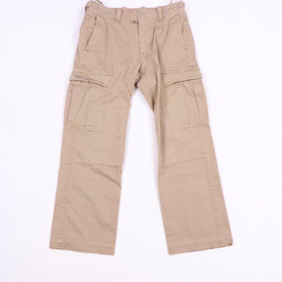 Vintage Gap Double Knee Cargo Logger Pants Khaki